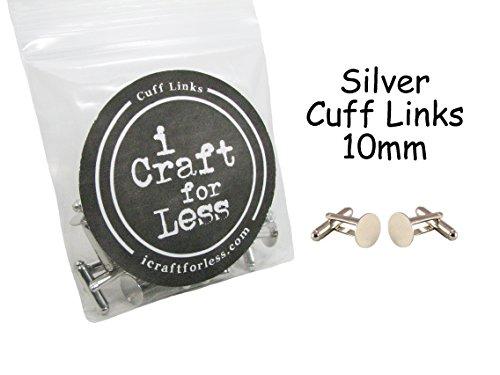 Cuff Links Blanks - 20 (10 pairs) - 10mm Glue Pads