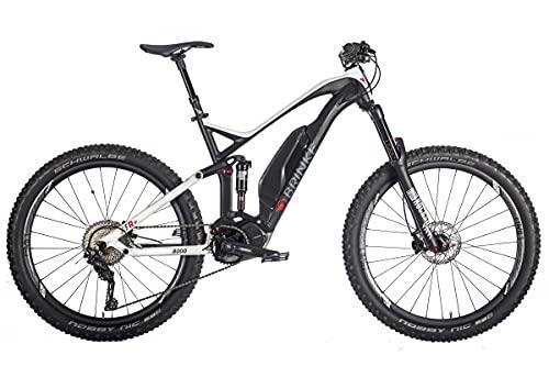 Brinke Bicicletta Elettrica E-Bike Xfr+ Motore Shimano E8000 Batteria 500Wh - Taglia 46 S - Nero E Bianco