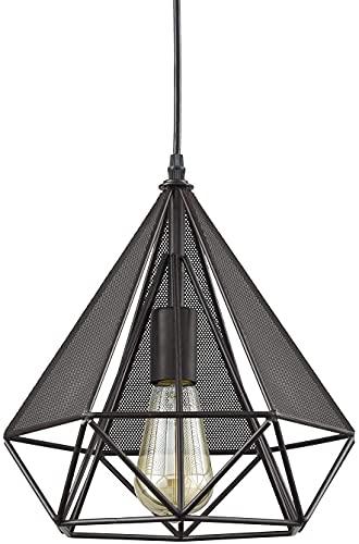 XiYou Candelabro Novedad, Hierro Forjado Retro, Moderno Minimalista Sala de Estar Dormitorio Porche Iluminación Decorativa Lámpara Colgante