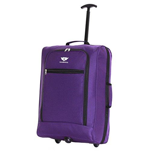Slimbridge Montecorto super leggero 55 cm bagaglio a mano con ruote, Viola