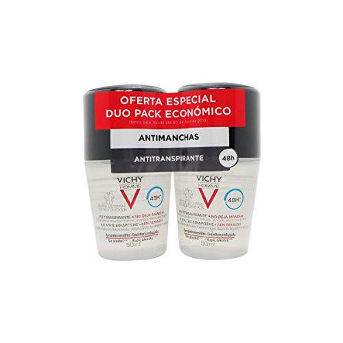 Vichy Homme Deodorant Anti-transpirant Anti-vlek 48 Uur 2x50 Ml