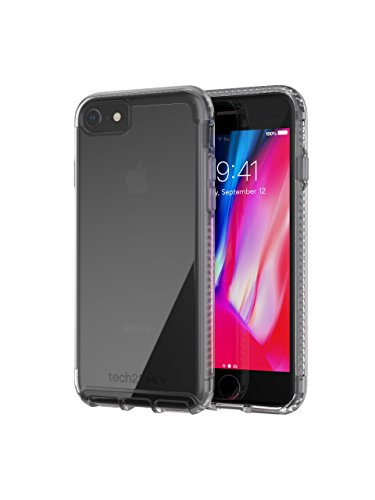 Tech21 Pure Clear Funda Protectora para Apple iPhone 7 / iPhone 8 - Transparente, Monótono