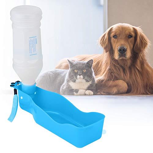 YJYJ (Azul 350 Ml Pastel Portátil Dog Cat Travel Botella De Agua con Soporte De Tazón Herramienta De Alimentación para Beber