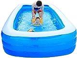 Bañera plegable Bañera Multifuncional Doméstica Interior Bañera Azul Bañera Azul Disponible en verano Inflable Capacidad Interior Bañera interior Piscina cuadrada Adecuado para entretenimiento infanti