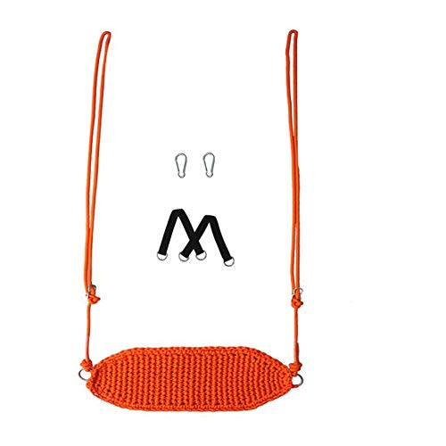 N / B Asiento de Swing para niños portátiles al Aire Libre, Cuerda Ligera y Duradera, Ajustable, Robusta y Duradera, fácil de Instalar, Camping Playa Familia jardín