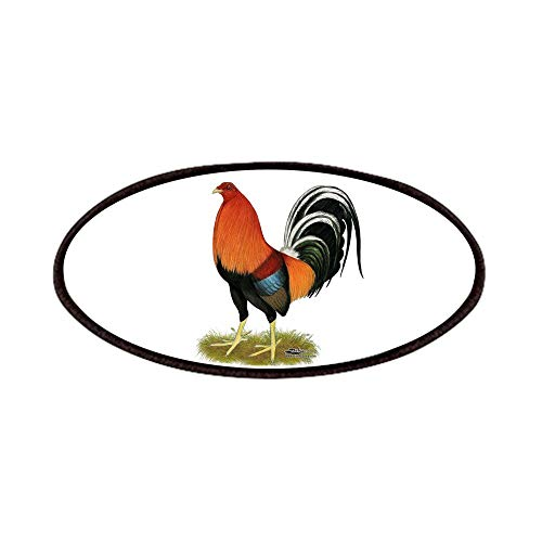 CafePress Gamecock Wheaten Rooster Patch, 4x2in Printed Novelty Applique Patch