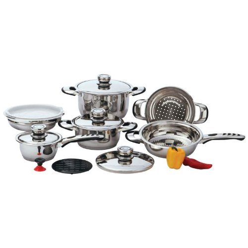 Chef's Secret 12-Piece 9-Ply Waterless Heavy-Gauge Stainless Steel Cookware Set