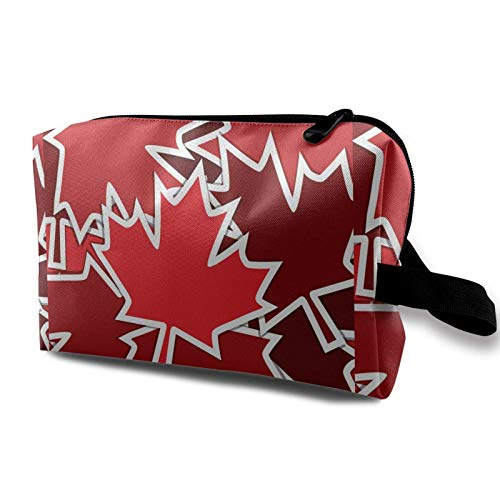 Hdadwy Pegatina Scatter-Canada Day Card Neceser de Aseo Bolsa de cosméticos Estuche de Maquillaje portátil Bolsa organizadora Colgante de Viaje para Mujer niña 10x5x6.2 Pulgadas