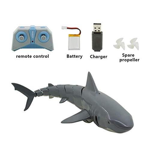 Shark Boat Toy 2.4G RC Simulación Mini Control Remoto Juguete USB Modelo de Carga Agua Divertido Juguete Animal para Piscina Tanque de Agua Bañera Tiburón Natación Juguete