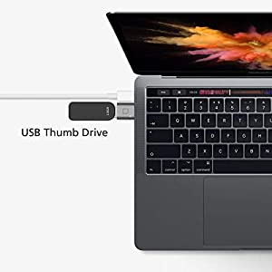 nonda USB C to USB Adapter,USB-C to USB 3.0 Adapter,Thunderbolt 3 to USB Female Adapter OTG for MacBook Pro 2019/2018,MacBook Air 2018,Surface Go,and More Type-C devices(Space Gray)