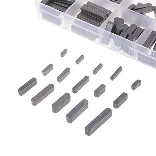 150 Stück Federschlüssel Set rund 18mm 20mm 30mm 40mm 50mm 60mm Passfedern Sortiment Edelstahl