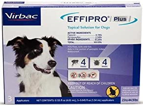 Virbac Effipro Plus Topical Solutions for Medium Dogs 23 to 44.9 lbs 3 Doses Purple