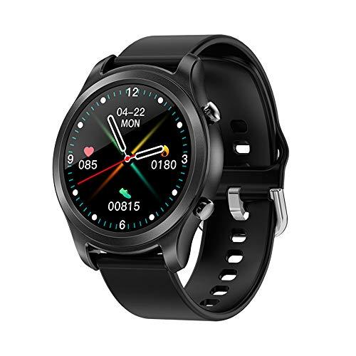 Smartwatch con Medidor de Temperatura Corporal, smartReloj Reloj Inteligente Medidor de Frecuencia Cardíaca Medidor de Presión del Tiempo Contador de Calorías Podómetro para Hombre y Mujer (A)