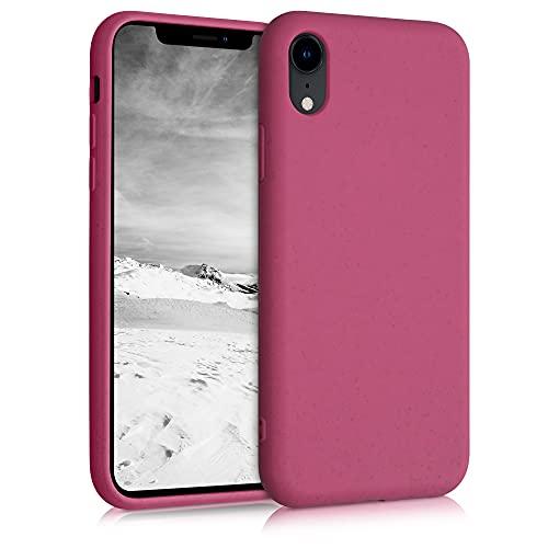 kalibri Cover Compatibile con Apple iPhone XR - Custodia Cover in Silicone e Paglia - Backcover Matt Anti-Impronte - Rosso Lampone