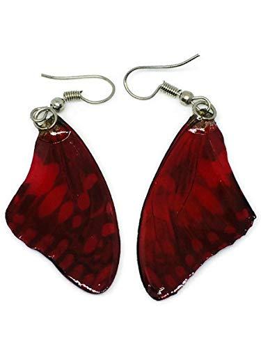 Women Silver Fashion Stud Earrings Butterfly Jewelry Tassel Dangle Elegant E015