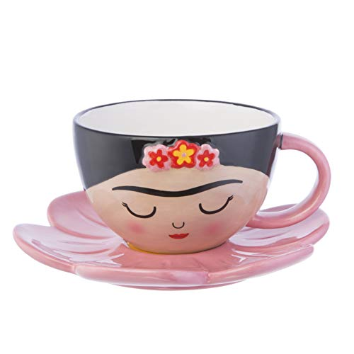 Sass and Belle, set di tazza e piattino Frida con motivo floreale
