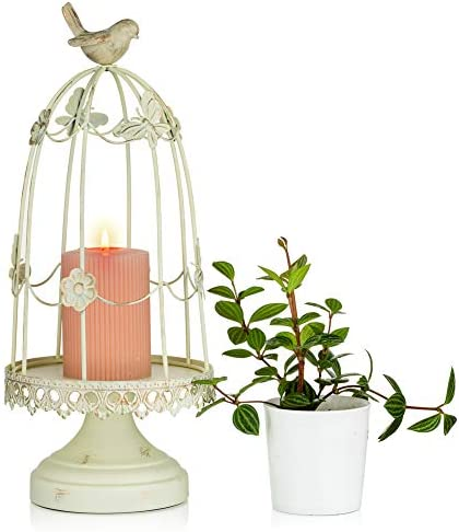 Sziqiqi Decorative Bird Cage Candleholder for Antique Decor Fit for Flowers Planter Candles product image