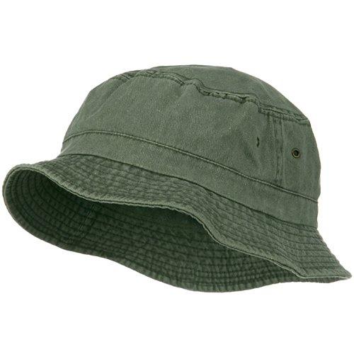 e4Hats.com Big Size Washed Hat - Olive 2XL-3XL