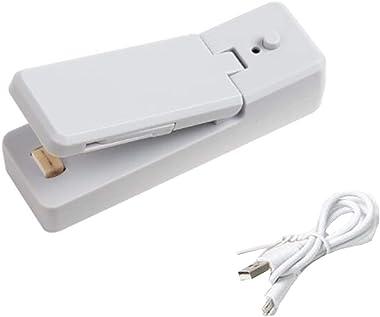 Máquina De Sellado Eléctrica, Máquina De Sellado De Empaque De Bocadillos a Presión Manual Portátil Con Función De Carga USB,