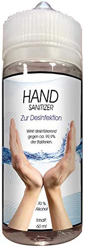 Shirt-Panda Aufkleber und Desinfektionsmittel · Hautdesinfektionsmittel 70% Alc. · Händedesinfektionsmittel Hautdesinfektion 70% Alkohol hautschonend für Desinfektion der Hände · 60ml