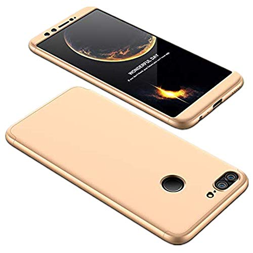 Handyhülle Kompatibel für Huawei P8 Lite Hülle Extra Dünn Ultra Slim Leichte Stoßfest Anti-Fingerabdruck Schutzhülle Cover Schutzhülle Bumper Schale Hardcase (Champagner Gold)