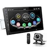 CarThree 9 Inch Single Din Car Stereo HD 1080P Car Radio Touch Screen Support Android/iOS Phone Mirror Link with Backup Camera Bluetooth FM Radio AUX/USB/TF