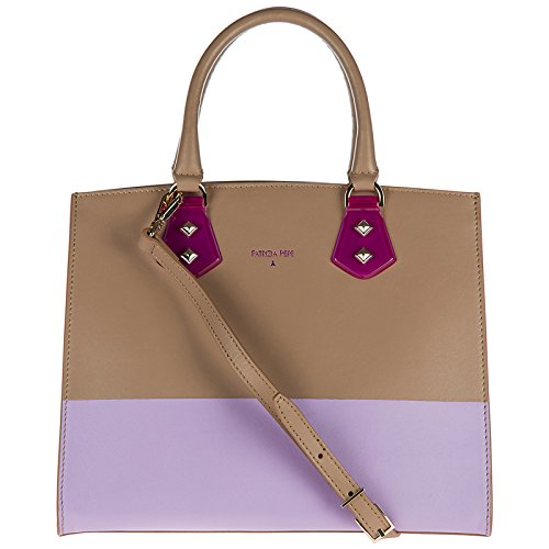 PATRIZIA PEPE borsa a mano donna noisette/lilac