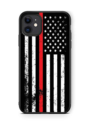 Deal Market LLC -Firefighter Fire Man Fire Rescue-Hard Rubber Phone case Compatible with Apple iPhone 12 Pro Max (2020 Model) - Includes 2 Screen Protectors
