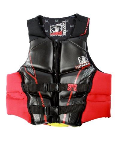 Body Glove Men's Magnum U.S. Coast Guard Approved Neoprene PFD Life Vest (Red, Large)