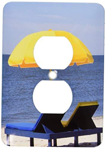 Einzelne Duplex-Steckdosenwandplatte, Steckdosen-Wandplatte, Strandschirm, Außenbänke, North Carolina Us34 Mde0012 Michael Defreitas 2 Steckdosenabdeckung