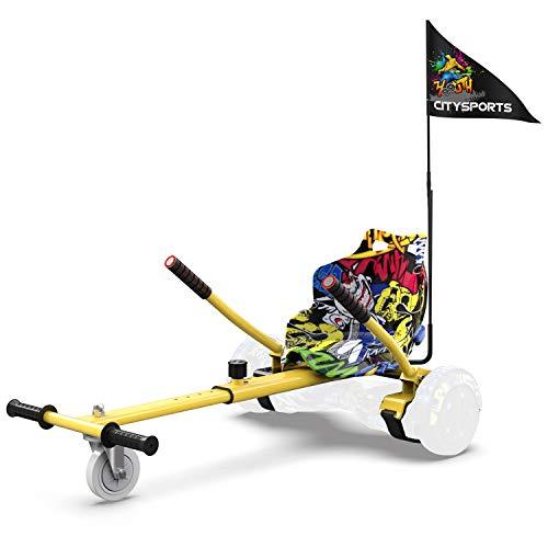 Hoverkart- Go Kart Kit de Conversión para Hoverboards - Todas las Alturas...