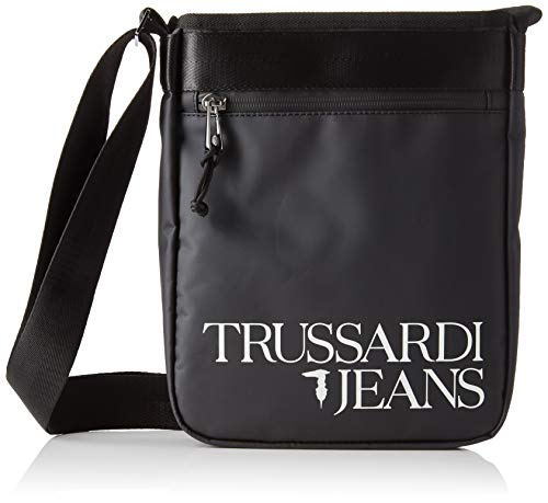 Trussardi Jeans T-Travel Reporter MD PVC, Borsa Organizer portatutto Uomo, Nero (Black), 6x28x22 cm (W x H x L)