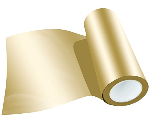 Poli-Flex Premium Flexfolie Meterware 30,5cm 41 Farben Textil-Bügelfolie, Farbe:420 GOLD-METALLIC