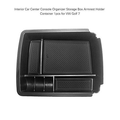 KKmoon Caja de Reposabrazos Organizador de Consola Central para V W Golf 7 MK7 2014 - 2018