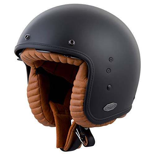 ScorpionEXO EXO Belfast 3/4 Open Face Helmet (Matte Black - X-Large)