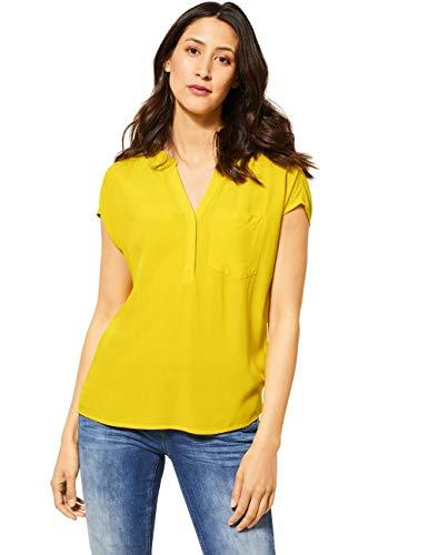 Street One Damen 341955 Bluse, Shiny Yellow, 42