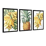 Canvas Painting Banana And Pineapple On The Tree Print Picture Home Wall Art Fruit Bedroom Room Decoration Custom Unframe-style1 24×36inch(60×90cm)