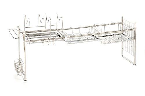 ビーワーススタイル ステンレス製シンク上水切りラックの写真