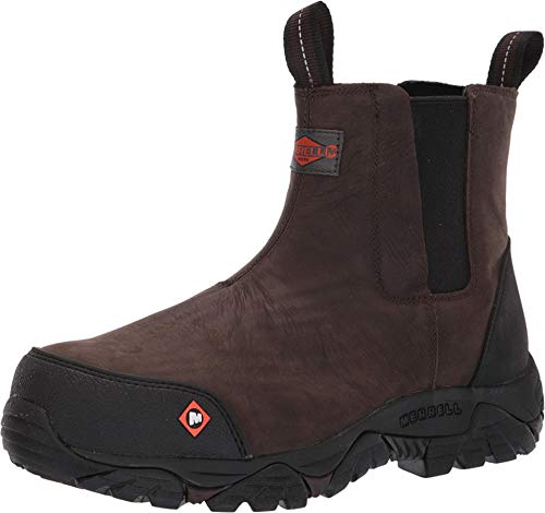 Merrell Work Moab Rover Pull On Comp Toe Espresso 10.5