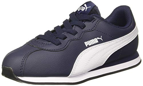 PUMA Turin II AC PS, Scarpe da Ginnastica Basse Unisex-Bambini, Blu (Peacoat White), 28 EU