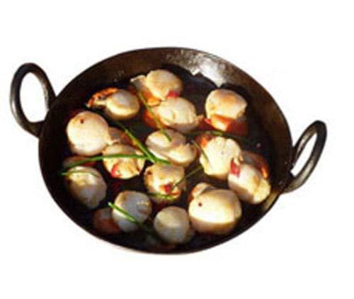 Padella indiana in ferro piatto Jalebi Kadai con manici per cucinare e friggere