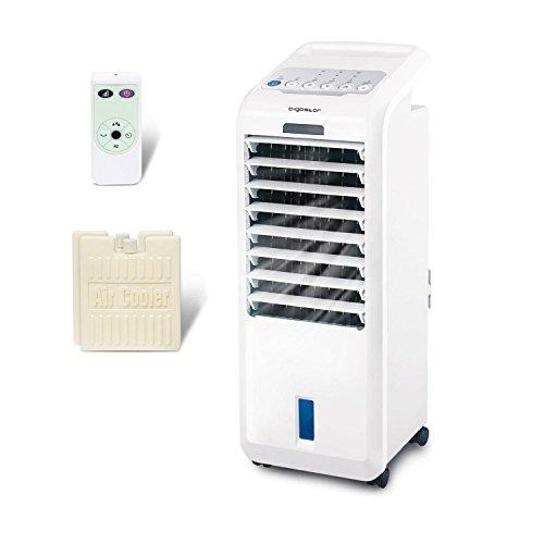 Klimaanlage Mobil ohne Abluftschlauch Leise 3in1 Klimagerät Monoblock Luftkühler Verdunstungskühler Ventilator Air Cooler mit Wasserkühlung Timer Eisboxen für Wohnung Zimmer