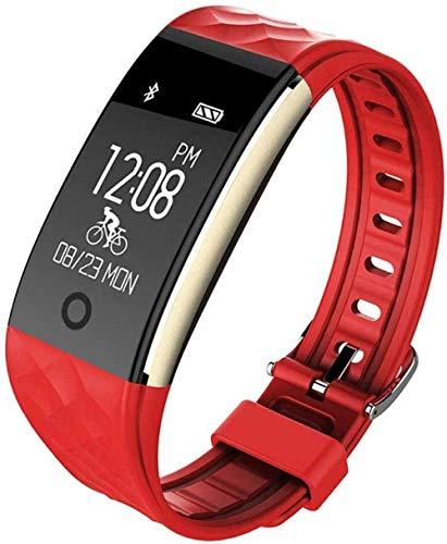 Multi Sport Bluetooth impermeable consumo de calorías Fitness Tracker con ritmo cardíaco Monitoreo Mensaje Push aplicable a Android Android IOS Smart Watch Negro-Blanco-Rojo