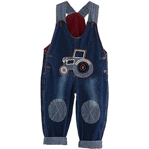 ACMEDE Latzhose Kinder Baby Jungen Mädchen Jeanshose Latzhosen Jeans Hosen Baby Kinder Overall (110)