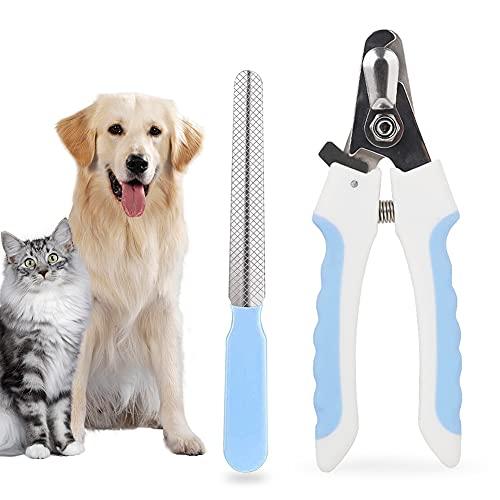Tagliaunghie per cani e tagliaunghie con protezione di sicurezza, strumento professionale per la toelettatura delle unghie per cani di taglia piccola, media, grande e grande,Blu S