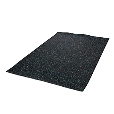 IncStores 4' x 6' Premium Durable Rubber Mat Home or Commercial Gym Flooring (Blue)