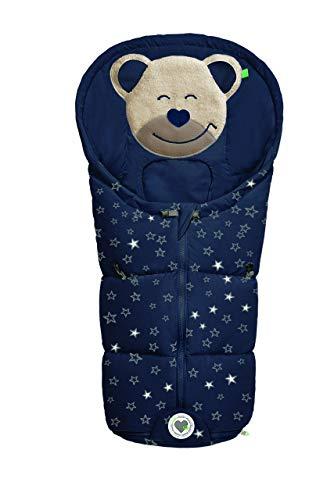 Odenwälder Fußsäckchen Mucki für Gr. 0 Babyschale fashion sparkling stars marine