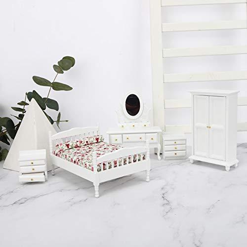 Casa de muñecas de Madera(5-Piece Room Furniture Set)