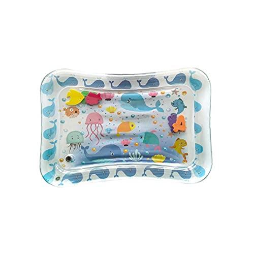 Eaarliyam Inflable Estera de Agua Juego del cojín a Prueba de Fugas de Agua Llena de diversión del Amortiguador del Juguete colchón Playmat Tiempo de la Panza del bebé para los niños estimulación del