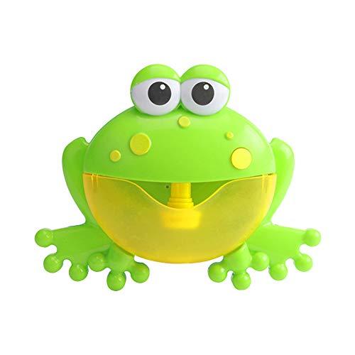 Qiao Nai Juguetes del Baño Rana de Burbujas Bañera,Máquina de Burbuja con Música Infantil y Burbuja Automática, Juguetes Divertida para Ducha de Niños Bebes